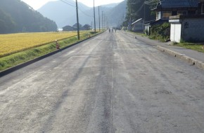 一般国道432号舗装道補修工事