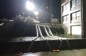【平成30年7月 西日本豪雨】ポンプ車による排水対応