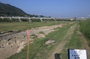 【平成30年7月西日本豪雨】芦田川中流域内 高水敷洗掘対策